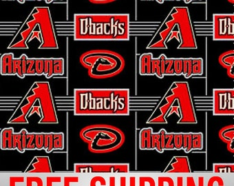 "Fleece Fabric Arizona Diamondbacks MLB 60"" Wide. Style# MLB ARI-6545 Free Shipping"