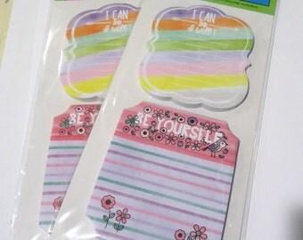 Sticky note pad sets