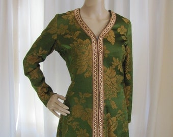 1960's Artistos Constantinou Indonesian Style Pantsuit, Carnaby Street, London, British Boutique Movement, Indian, Pantsuit, Medium, 1960's