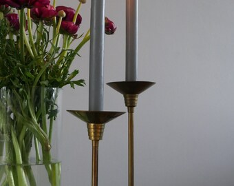 Set of brass candlesticks / brass candle holders - Vintage
