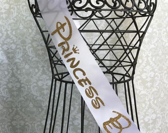 Princess Bride with Crowns bridal party/ bachelorette party sash