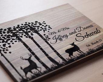 Gift for couple Wedding gift Love Tree Personalized Cutting Board Wedding cutting board  Bridal Shower Gift Chopping Block Anniversary Gift