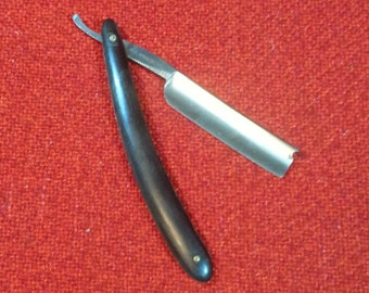 Vintage Straight Razor Felt Pad Razor Works Pat. April 25 1905 Unpolished Diamond Antiseptic