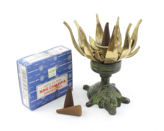Lotus flower incense holder, Brass Lotus,  Cone incense holder, Elephant incense holder, Meditation Statue, Home Decor, Alter Ornament,
