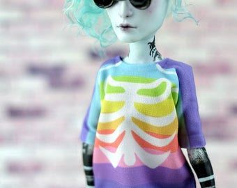 T-shirts with print for Boy Monster High. Handmade Doll Clothes