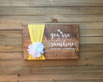 You are my Sunshine Baby Shower, Sunshine Nursery, You are my Sunshine Wall Art, You are my Sunshine, Sunshine Art, You Make Me Happy