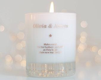Personalised Wedding Candle, Personalized Wedding Gift, Unity candle, Wedding Day Gift, Wedding Candle Gift, Wedding Invitations, Candle