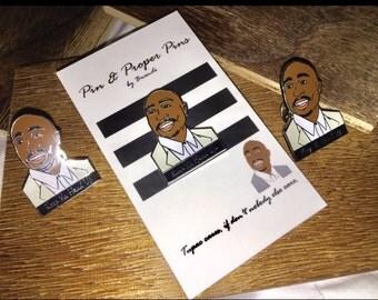 Tupac Shakur Keep Ya Head Up Enamel Pin