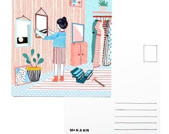 Illustration postcard - Making changes