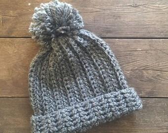 Crochet Hat with Pom Pom