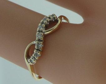 Vintage Diamond Bow Ring- 14k Yellow Gold