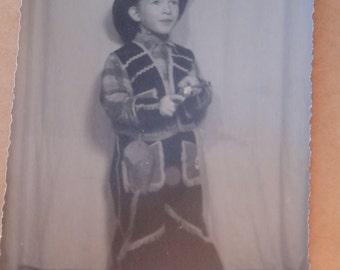vintage 1956 photo, cowboy photo,