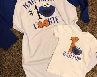 Cookie Monster Birthday Shirt/Matching Cookie Monster Shirts/Cookie Monster Shirt/Birthday Shirt/Monster Shirt