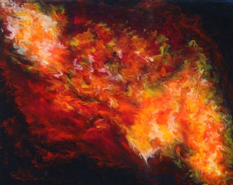 """Original Contemporary Handmade Acrylic Abstract Painting, 20"""" x 16"""" - 'Synthesis'"""