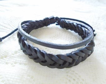 Braided leather Boy bracelet, Leather bracelet, Boy bracelet, Girl bracelet