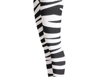 Zebra Leggings - Zebra Stripe Leggings - Zebra Costume - Animal Leggings - Zebra - Zebra stripe - Halloween Costume - kids leggings