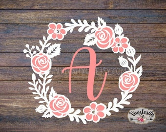 Floral Monogram Decal | Floral Decal | Flower Decal | Flower Monogram | Yeti Decal | Car Decal | Bridesmaid gift | monograms | decal