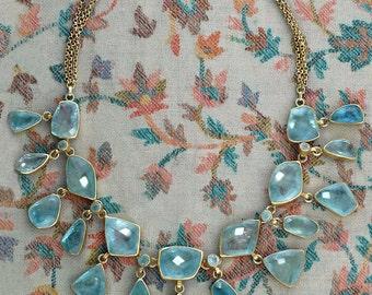 Mughal Style Aquamarine Set Necklace