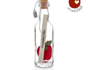 PERSONALISED Teacher or Teaching Assistant Gift Message in a Bottle Keepsake   GIFT BOXED