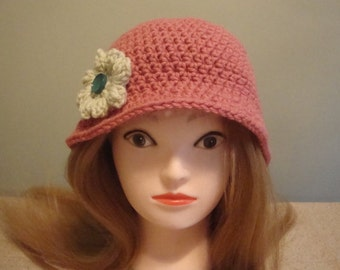 Women's Rose Cloche Hat, Cloche Hat, Rose Hat, Womens Cloche Hat, Womens Hat, Womens Rose Hat, 1920's Cloche Hat, 1930's Cloche Hat