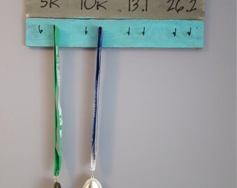 She believed she could so she did medal display, wood medal display, running medal holder