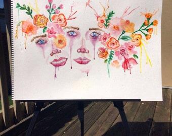 "Watercolor Painting ""Agobio"""