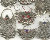 Kuchi tribe earrings, nomadic Koochi tribal hoops, Afghanistan Afghan Afghani, Pakistan Pakistani, body piercing jewelry, nose ring, unique
