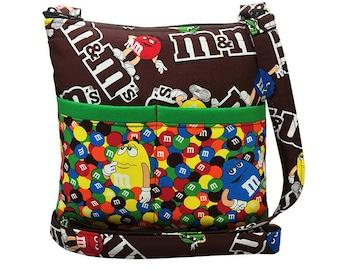 M&M's Crossbody Bag // Sling Bag // Crossbody Purse // Shoulder Bag // Hipster