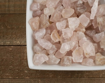 30g Raw ROSE QUARTZ Crystals - Healing Crystal, Healing Stone, Love Stone, Chakra Stone, Natural Rose Quartz Jewelry Making E0081