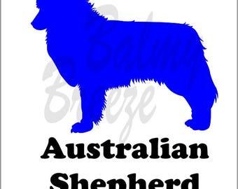 DN - 1 Australian Shepherd Vinyl Decal