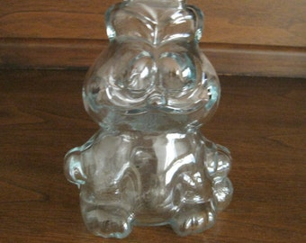 Garfield Bank, Clear Glass, Vintage