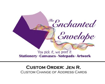 Personalized note cards custom note cards at the for Change of address note cards