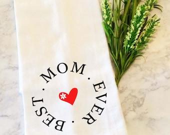 Mothers Day Tea Towel, Dish Towel, Kitchen Towel, Dish Cloth, Tea Towel, Flour Sack Dish Cloth, Hand Towels