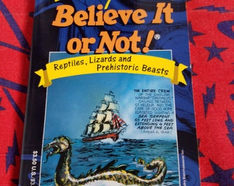 Ripley's Believe It or Not! Reptiles, Lizards and Prehistoric Beasts ** vintage 1990s amazing-but-true stories of oddities and phenomena