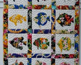 beyond the reef pattern + HUKI LAU quilt pattern