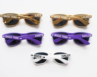 Bride Tribe Sunglasses, Sunglasses with Names, Personalized Sunglasses, Custom Sunglasses, Bachelorette Sunglasses, Wedding Sunglasses