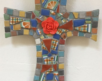 Handmade Ceramic Mosaic Cross