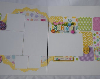Easter Egg Hunt Two Page 12 x 12 Premade Layout