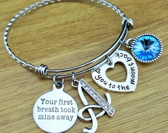 New Mom Gift New Mom Bracelet New Mom Jewelry Mothers Day Gift Mom Bracelet Mom Jewelry Bracelet for Mom Mother Bracelet Birthstone