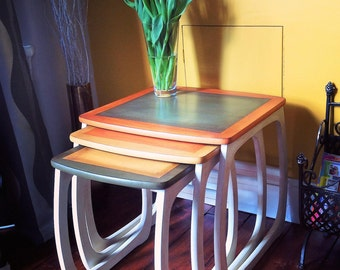 G Plan style retro nest of tables