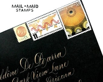 Golds for days  || Set of unused vintage postage stamps to mail 5 standard letters