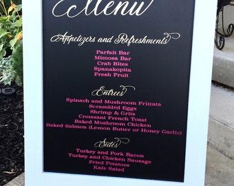 Wedding Menu  Sign - Rustic Wedding Sign - Wedding Chalkboard - Chalkboard Sign - Wedding Signs  - Wedding Decor - Wedding Signs - Gold Foil