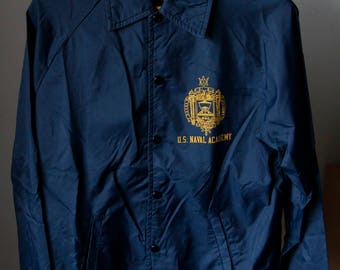 Vintage US Naval Academy Champion Jacket Size Small Made in USA