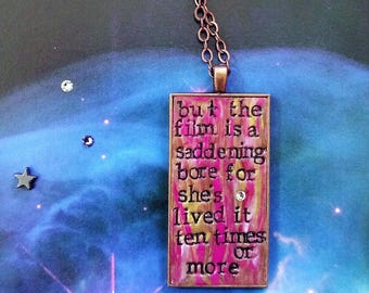 David Bowie Life on Mars Pendant Necklace