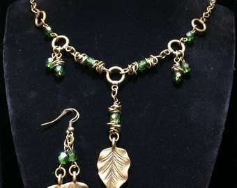 Early Autumn Necklace and Earring Set