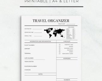 Travel Organizer Printable Journey Planner Travel Planner Trip Planner Vacation Organizer Travel Planning Vacation Planner Instant Download