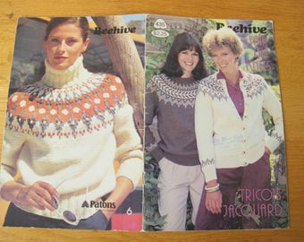 Patons Beehive Fair Isle Knits / Nordic Style Chunky sweater patterns / Beehive 435 / Tricots Jacquard