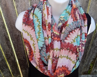 Indian Print Infinity Scarf