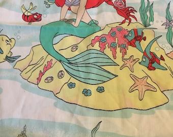 Vintage Great Condition Disney's Little Mermaid Twin Flat Sheet