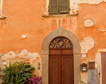 Photograph, Italian Door, Tuscany, Countryside, Italy